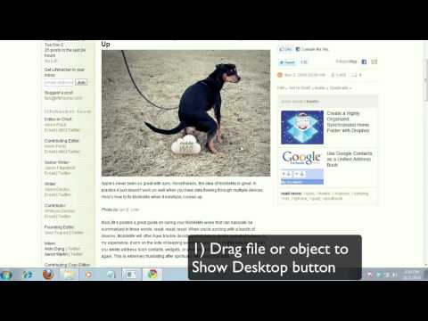 Use This Shortcut To Quickly Drag Files To The Desktop