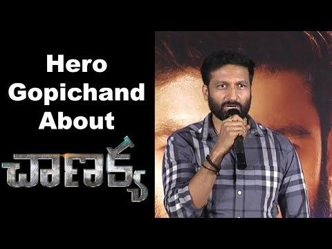 Hero Gopichand at Chanakya Movie Team Pressmeet Event