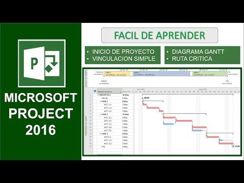 Microsoft Project 2016 - Training - YouTube