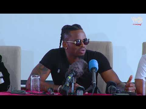 Diamond Platnumz- PRESS CONFERENCE NAIROBI ( CLIP 1)