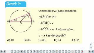 Eğitim Vadisi 11.Sınıf Matematik 12.Föy Çember ve Daire 2 (Çemberde Açılar) Konu Anlatım Videoları