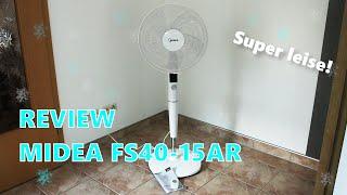 REVIEW: MIDEA FS40-15AR - Standventilator mit Fernbedienung, Timer, 26 Stufen, Comfort & Silent Mode