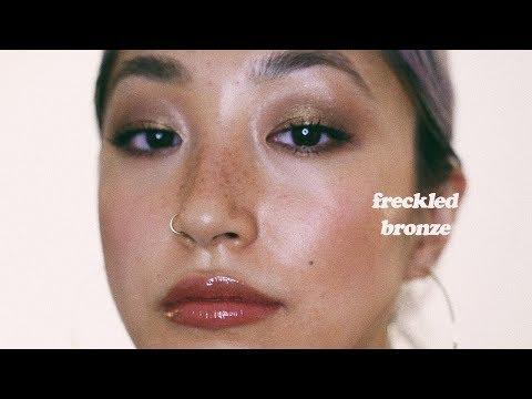 FRECKLED BRONZE MAKEUP | dahyeshka