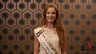 Introduction Video of Michelle Kruger Miss South Africa 2017 Contestant from Pretoria, Gauteng