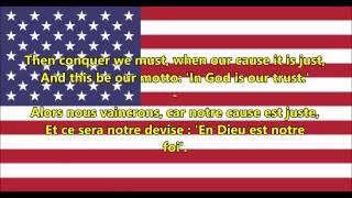 Hymne national des États-Unis - National Anthem of USA (EN/FR Paroles)