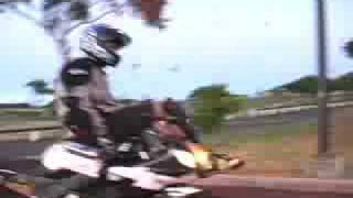 preview picture of video 'Caz motorcycle madness pt3 WHOOPS!'