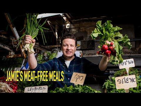 Jamie's Meat Free Meals   Asparagus Quiche & Soup, My Veggie Pasties, Summer Veg Blanket Pie