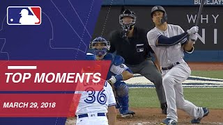 Top 10 Plays from Opening Day - 3/29/18 - Video Youtube