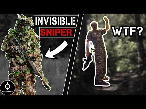 Airsofter in ghillie suit shooting people directly in front of him who can't figure out where it's coming from