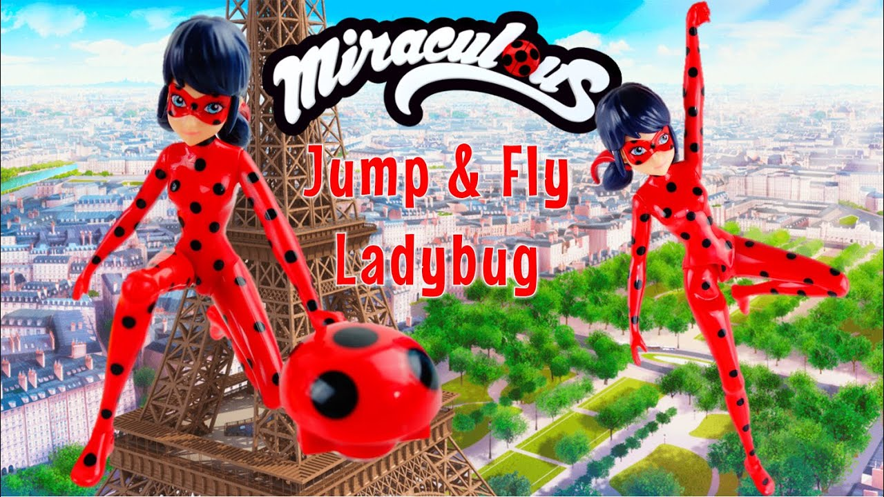 Miraculous Ladybug Toy Jump & Fly Ladybug Action Figure Playset Unboxing and Review