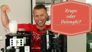 Günstige Kaffeevollautomaten im Test | Krups oder DeLonghi?