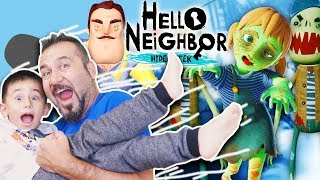 HELLO ZOMBİLER! KAZIM USTANIN KIZI ZOMBİ OLDU! | HELLO NEIGHBOR HIDE AND SEEK #7