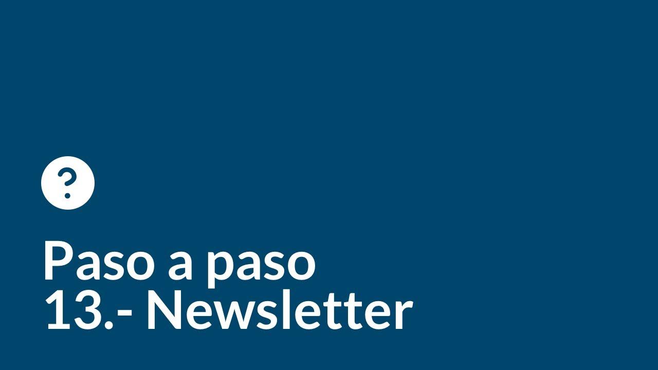 Crea tu web desde cero paso a paso   Capítulo 13   Newsletter