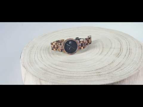 MAKU | Orologio da polso in legno | Movimento Svizzero | Uomo | Legno africano | Woodstar Milano