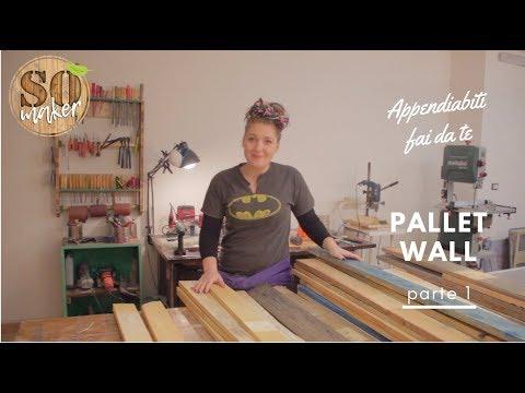 Appendiabiti da muro - Pallet wall - parte 1