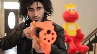 NERF WAR: Elmo's Revenge!