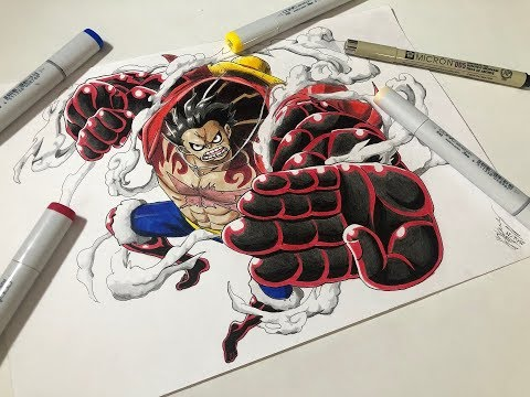 Drawing Luffy Gear 4 Snake Man One Piece Speed Drawing Time