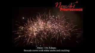 preview picture of video '2015 New-Art Pyrotechnics Cake Demo(139)-110s F shape brocade crown with white strobe and crackling'