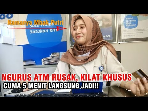 Vlog Inspirasi - Cetak ulang Kartu ATM BCA, Kilat khusus!!!