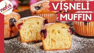 ÇABUCAK PİŞER, KABARDIKÇA KABARIR! 🥧🍒 Yumuşacık Vişneli Muffin 🍒