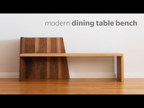 Mid Century Modern Dining Bench - How To Build - Woodworking