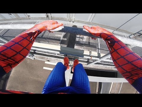 SPIDERMAN Fights Crime - Real Life Parkour POV