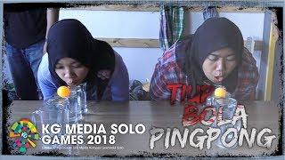 Lomba Tiup Bola Pingpong di Kantor Tribunnews Solo saat Peringatan HUT ke-73 Republik Indonesia