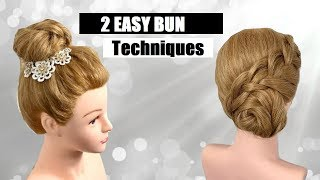 Two Easy Bun Techniques Made By Sheree || Siren Hair Art