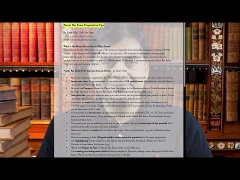 Patent Bar Exam Preparation and Exam Taking TIps - By Kasey ...