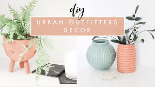 DIYing Urban Outfitters Home Decor | Terra Cotta Planter, Geometric Vase