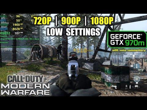GTX 970M | Call of Duty: Modern Warfare - 1080p, 900p, 720p