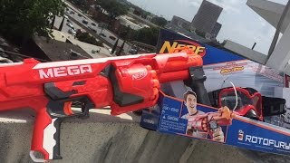 Honest Review: The Nerf MEGA Rotofury (Full Unboxing and Firing Demo)