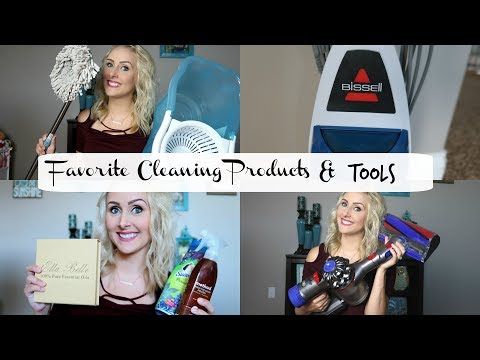 My Favorite Cleaning Products and Appliances/ Tools- Dyson Cordless Vac- Spin Mop- Bissel Steam Mop