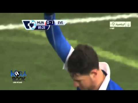 Bryan Oviedo Goal Minute 86   Manchester United 0 vs 1 Everton Highlights All Goal 05 12 2013