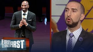 Nick Wright and Cris Carter on the Lakers retiring Kobe's #8 and #24 | FIRST THINGS FIRST