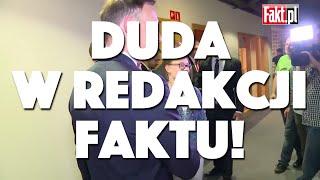 MÓJ SUBSKRYBOWANY KANAŁ – Andrzej Duda w redakcji Faktu!