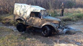 Затестили ГАЗ 69... Чуть не перевернулся и сломался несколько раз... (GAZ-69 Off-road)