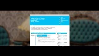 """Modern CV """"Positive """"by Mycvfactory"""