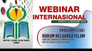 WEBINAR INTERNASIONAL PRODI HKI S1 IAIN AMBON