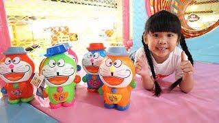 Trò Chơi Săn Tìm Trứng Doraemon Trong Nhà Bóng ♥ Bé Bún - CreativeKids ♥ Đồ Chơi Trẻ Em