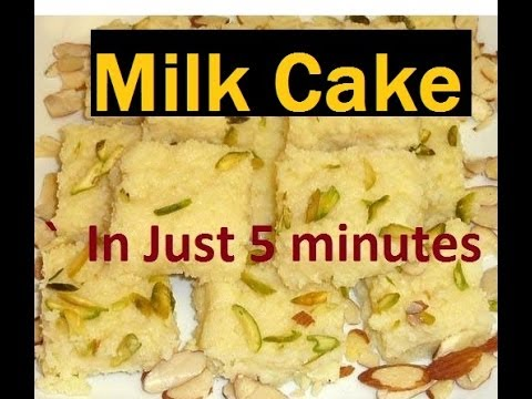 Indian Milk Cake (Eggless Dessert ) in Five Minutes. Microwave Easy Desert Recipe, See to Believe