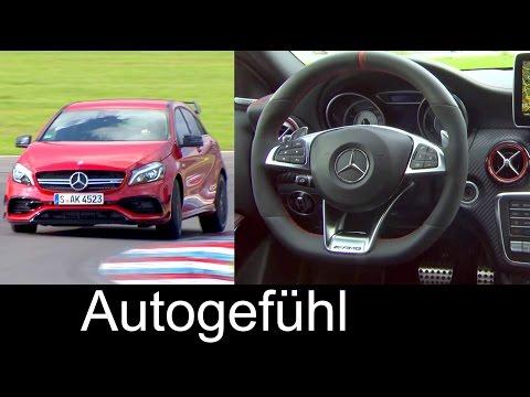 Mercedes-AMG A 45 4MATIC Sound Exterior Interior Colours Preview 2016 A-Klasse
