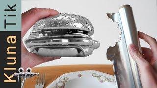 FOIL ball BURGER for lunch! Kluna Tik Dinner| ASMR sounds no talk Papel aluminio bola ,アルミホイルボール