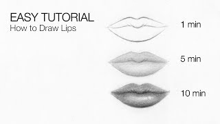 How To Draw Lips & Mouth In 10 MINUTES - EASY Tutorial For BEGINNERS