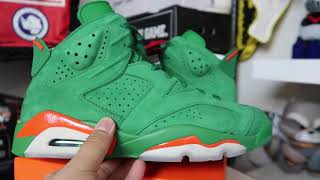 AIR JORDAN RETRO 6  'GREEN GATORADE' REVIEW + ON FEET!!!