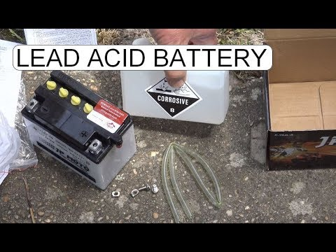 UNBOXING JP MOTO MOTORCYCLE BATTERY YB4L B 12V 4AH 40A