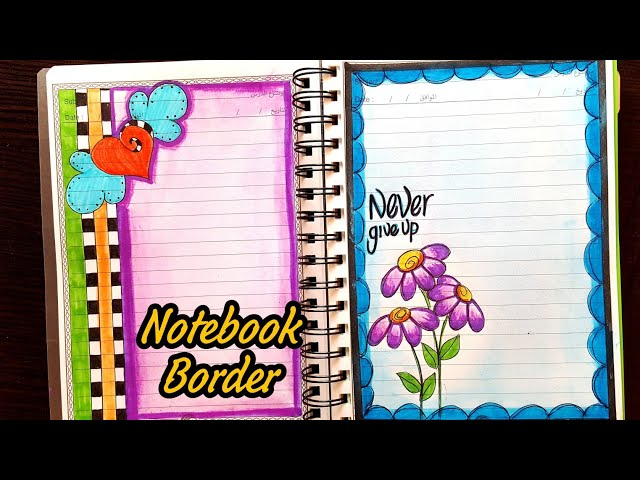 Notebook 6 Border Designs On Paper Project Work Borders For Projects