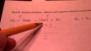 Balancing Equations Practice(2)