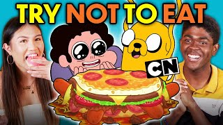 Try Not To Eat Challenge - Cartoon Network Food (Steven Universe, Adventure Time, Teen Titans Go!)