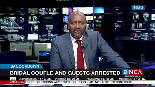 SA Lockdown: Bridal couple and guests arrested on their wedding day